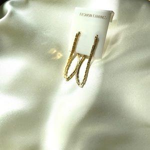 Vintage Gold Tone Chain Earrings